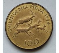 100 шиллингов 1994 год Танзания