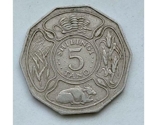 5 шиллингов 1987 год Танзания