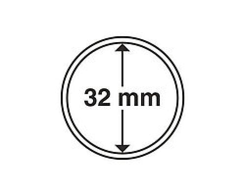 Капсула для монеты 32 мм ETALONPLUS+ (под 1 унцию золото Украины)
