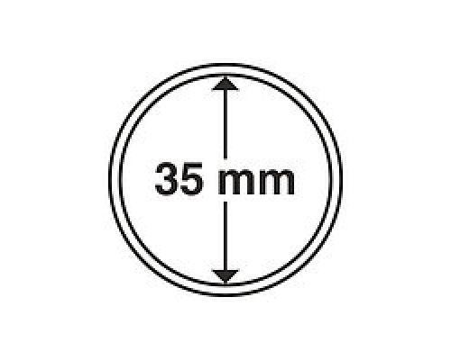 Капсула для монеты 35 мм ETALONPLUS+ (под 5 гривен нейзильбер)