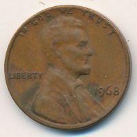 1 цент 1968 год США