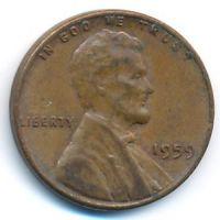 1 цент 1959 года США