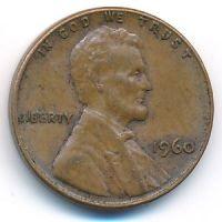 1 цент 1960 год США