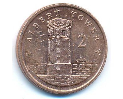 2 пенса 2008 год Остров Мэн