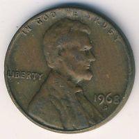 1 цент 1968 год D США