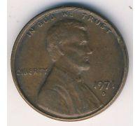 1 цент 1971 год D США