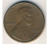 1 цент 1975 D года США Америка