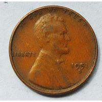 1 цент 1951 год S США Пшеничный Цент