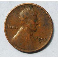 1 цент 1956 год D США Пшеничный цент