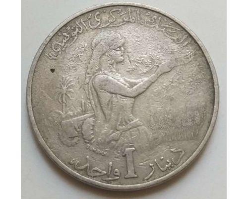 1 динар 1976 год Тунис Хабиб Бургира