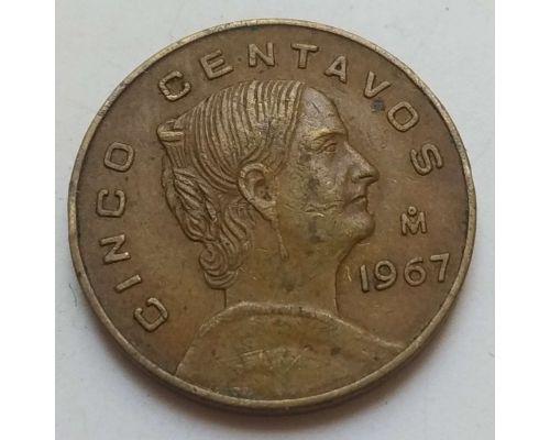 5 сентаво 1967 год Мексика