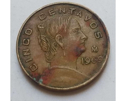 5 сентаво 1969 год Мексика