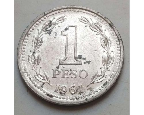 1 песо 1961 год Аргентина