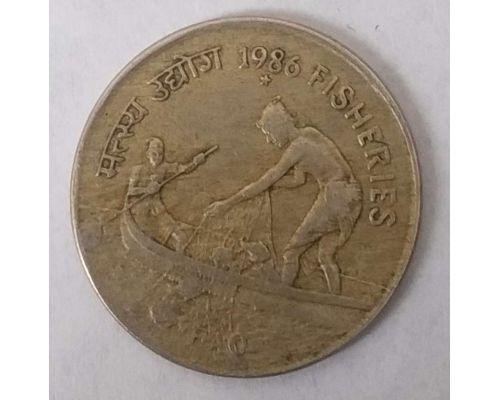 50 пайс 1986 год Индия F.A.O Рыболовство