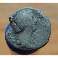 Денарий Фаустина Младшая Древний Рим (161—176 гг. н.е.) супруга Марка Аврелия НЕ МЫТАЯ и НЕ ЧИЩЕНАЯ
