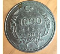 1000 лир 1993 год Турция