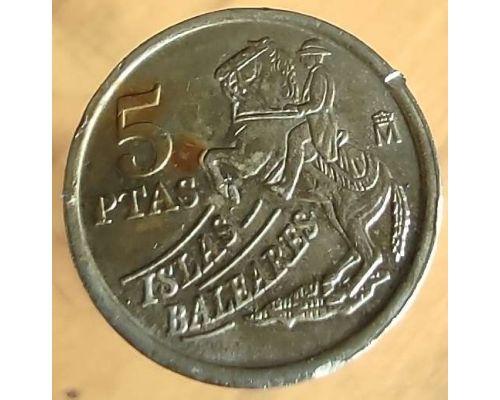 5 песет 1997 год Испания Балеарские острова