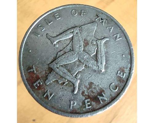 10 пенсов 1976 год Остров Мэн Трискелион