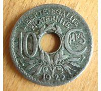 10 сентим 1925 год Франция (сантим)