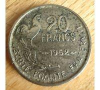 20 франков 1952 год Франция Петух