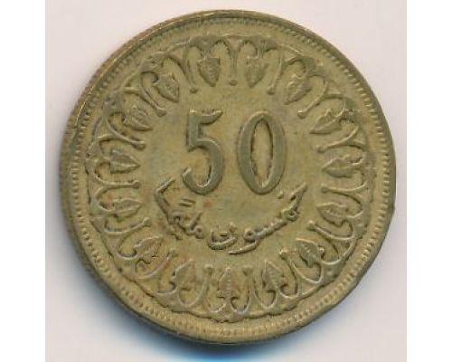 50 миллим 1983 год Тунис