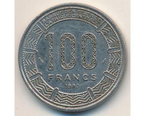 100 франков 1980 год ЧАД редкая