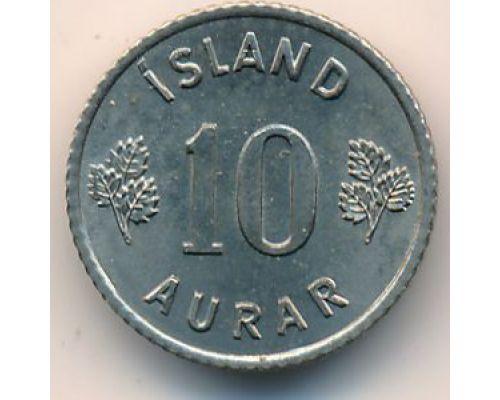 10 эйре 1969 год Исландия (аурар)