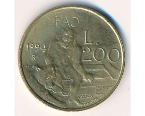 200 лир 1994 год Сан-Марино Человек и Медведь
