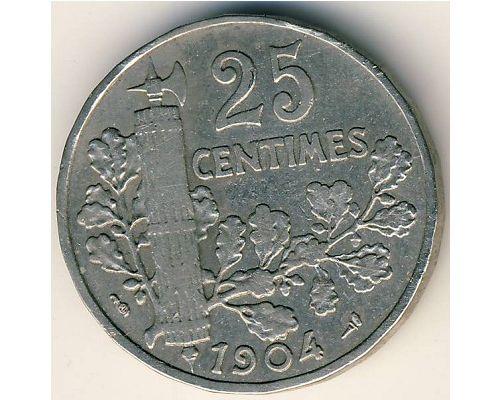 25 сентим 1904 год Франция (сантим)