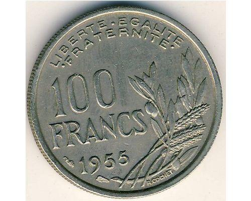 100 франков 1955 год Франция