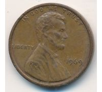1 цент 1969 год США