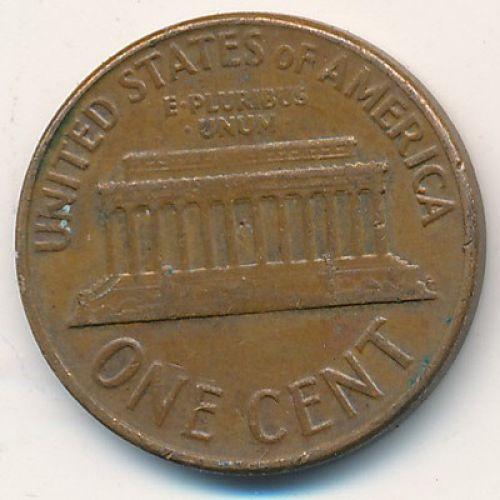 1 цент 1961 год D США