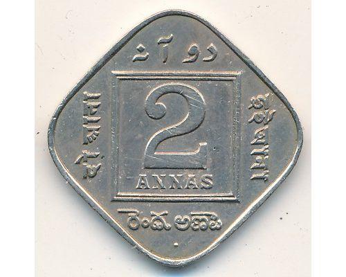 2 анны 1918 год Британская Индия Георг V