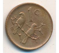 1 цент 1976 год ЮАР Птицы Якобус Йоханнес Фуше