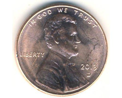 1 цент 2011-2017 год D США