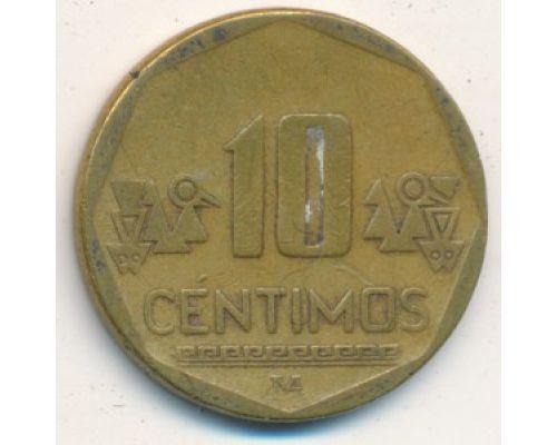 10 сентимо 2001 год Перу