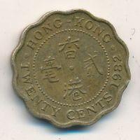 20 центов 1982 год Китай Гонконг