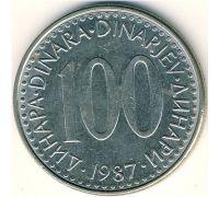 100 динаров 1987 год  Югославия