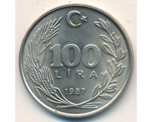 100 лир 1987 год Турция