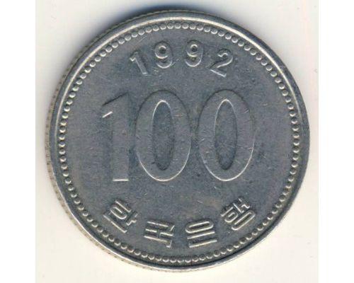 100 вон 1992 год Южная Корея