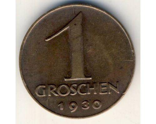 1 грош 1930 год Австрия