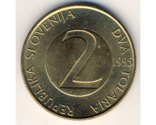 2 толара 1995 год Словения Ласточка