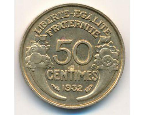 50 сентим 1932 год Франция