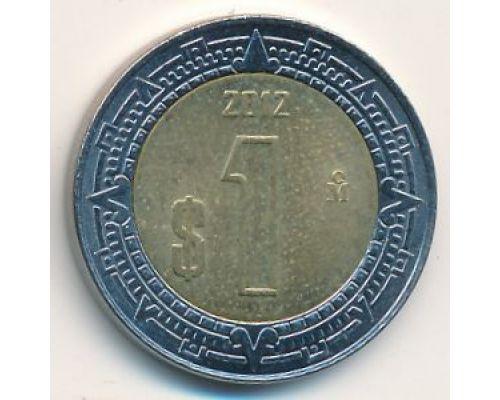 1 новый песо 2012 год Мексика