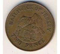 2 пенса 1983 год Великобритания Джерси