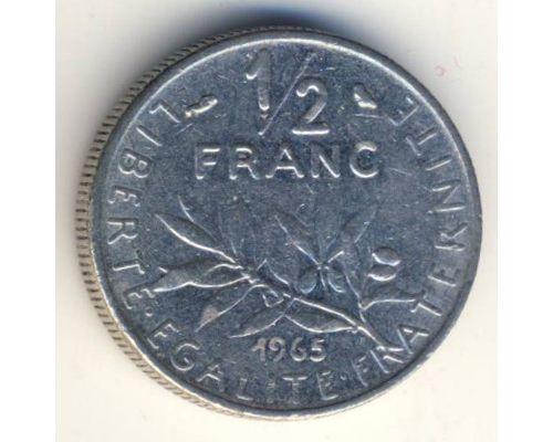 1/2 франка 1965 год Франция