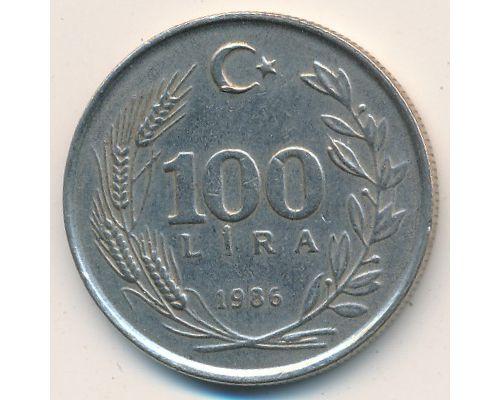 100 лир 1986 год Турция