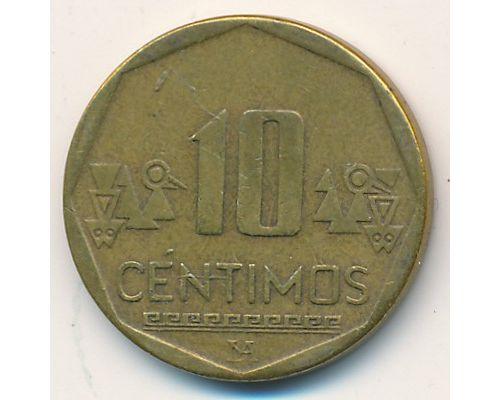 10 сентимо 2002 год Перу