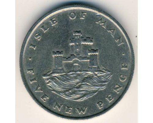 5 новых пенсов 1975 год Остров Мэн