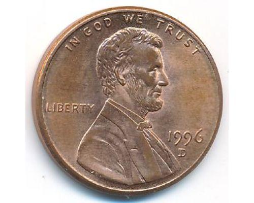 1 цент 1996 год D США